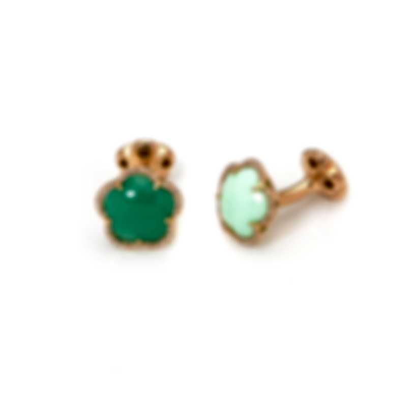 Pasquale Bruni Bon Ton 18k Rose Gold Diamond 0.16ct And Chrysoprase Cufflinks 15588R