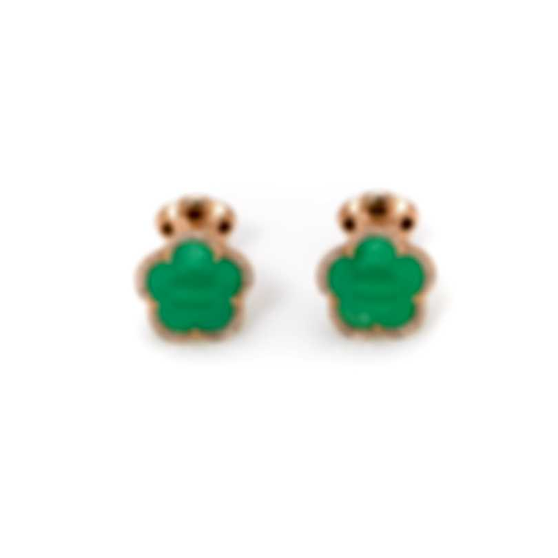 Pasquale Bruni Bon Ton 18k Rose Gold Diamond 0.16ct And Chrysoprase Cufflinks 15607R