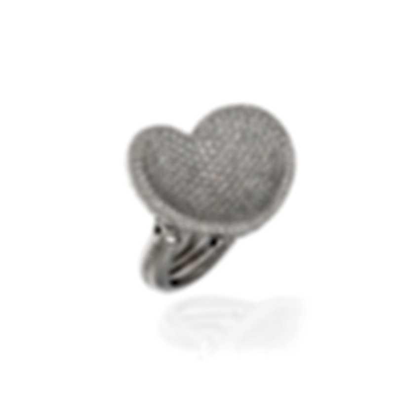 Pasquale Bruni In Love 18k White Gold Diamond(2.76ct Twd.)Ring Sz 6.25 15001B-13