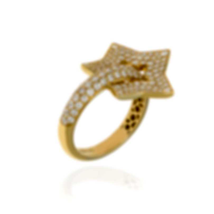 Pasquale Bruni Make Love 18k Yellow Gold Diamond(1.13ct Twd.)Ring Sz 6.75 15394G-13