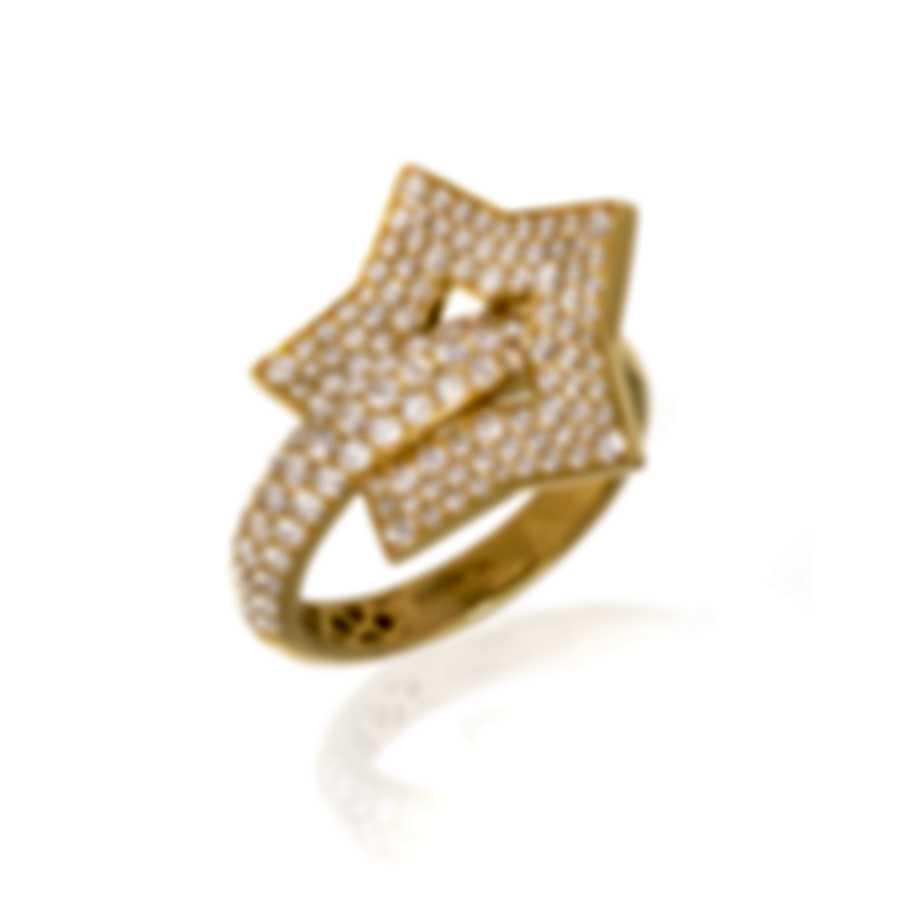 Pasquale Bruni Make Love 18k Yellow Gold Diamond 1.14ct Ring Sz 6.5 15394G-15