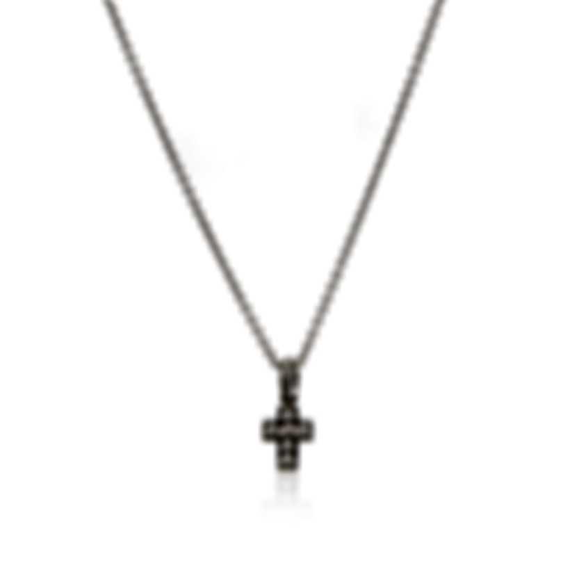 Pasquale Bruni 18k White Gold Diamond 0.55ct And Sapphire Necklace MC1897B