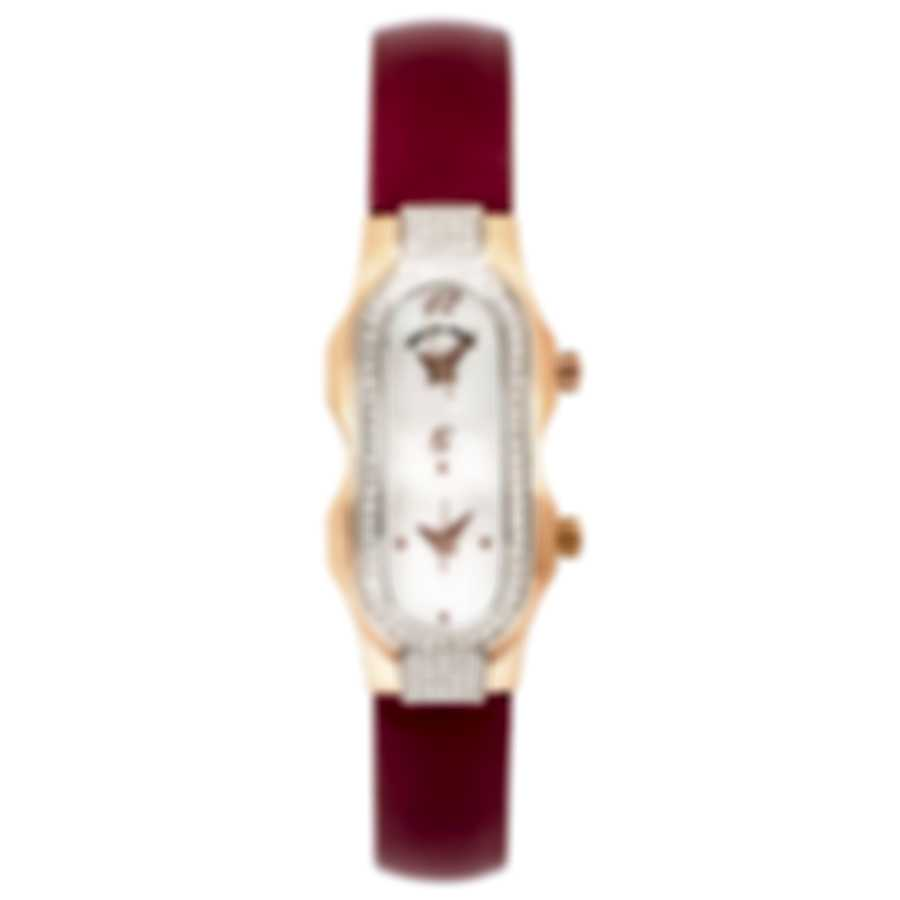 Philip Stein Diamond Rose Gold Plated Dual Time Quartz Ladies Watch 4DDRGP-F-MOP-IBG