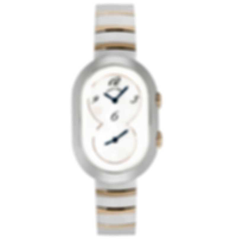 Philip Stein Legacy Petite Steel And Rose Gold Quartz Ladies Watch 64TRG-MFMOP-NSSTRG