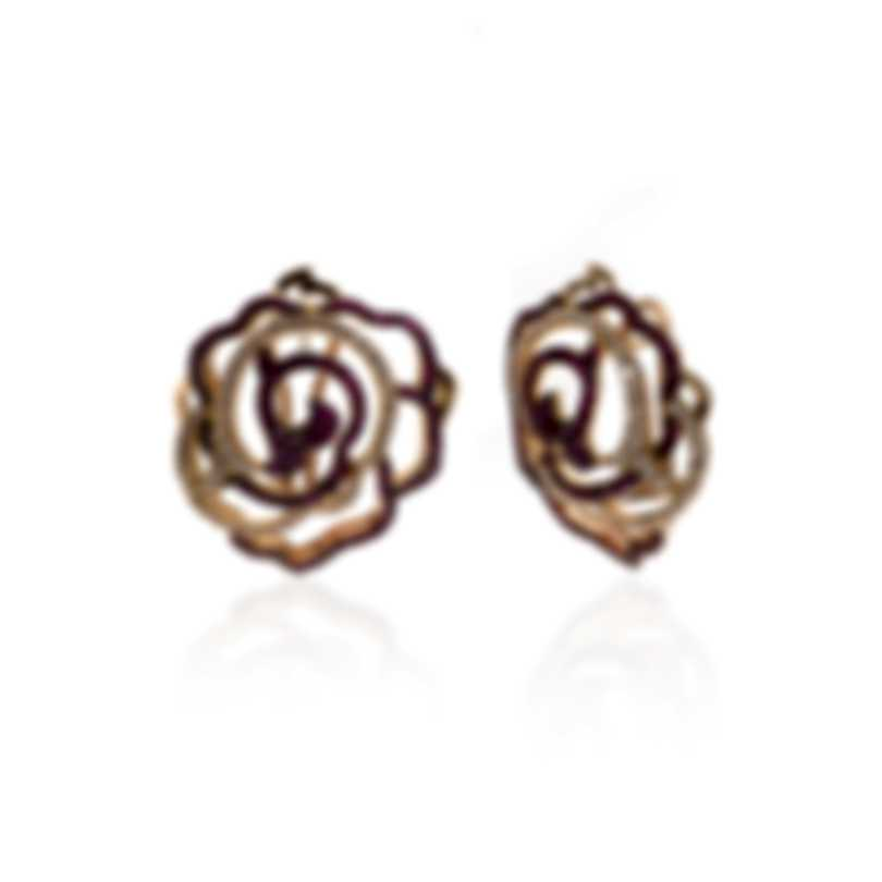 Piero Milano 18k Rose Gold Diamond(0.95ct Twd.)and Ruby Earrings M4088RB5R