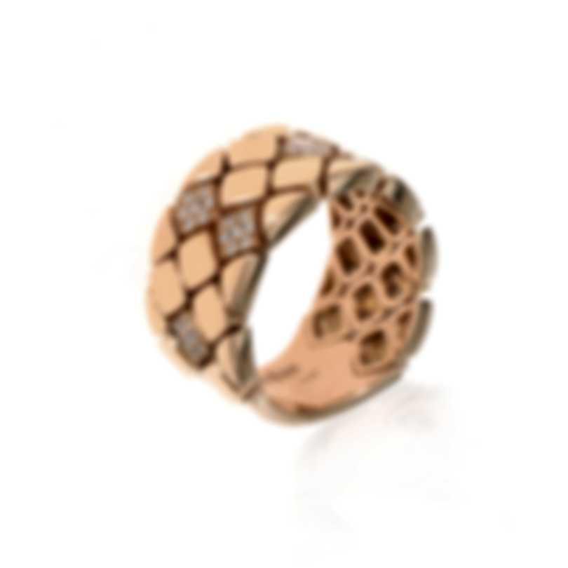 Piero Milano 18k Rose Gold Diamond(0.32ct Twd.)Ring Sz 9 Y2232AB5