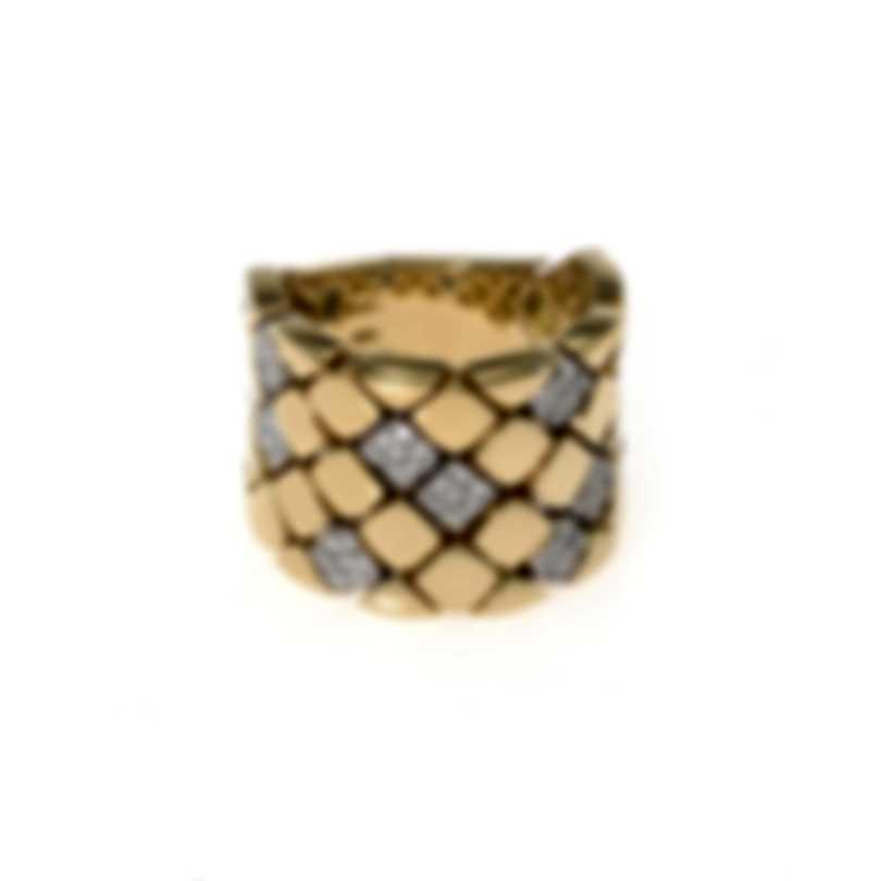 Piero Milano 18k Yellow Gold Diamond(0.5ct Twd.)Ring Sz 9 Y2233AB3
