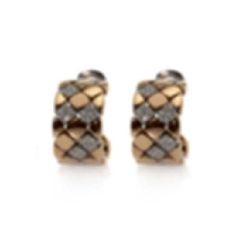 Piero Milano 18k Rose And White Gold Diamond(0.64ct Twd.)Earrings Y2253RB6