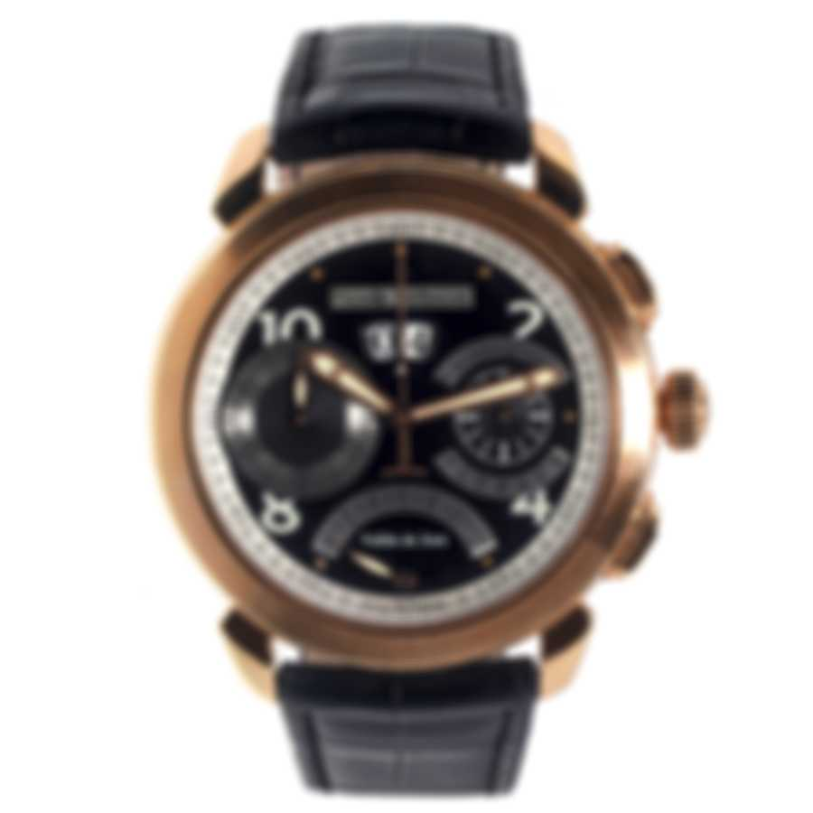 Pierre DeRoche 18K Rose Gold Grandcliff Retro Hours And Flyback Chronograph Automatic Men's Watch GRC10001ORO0-002CRO
