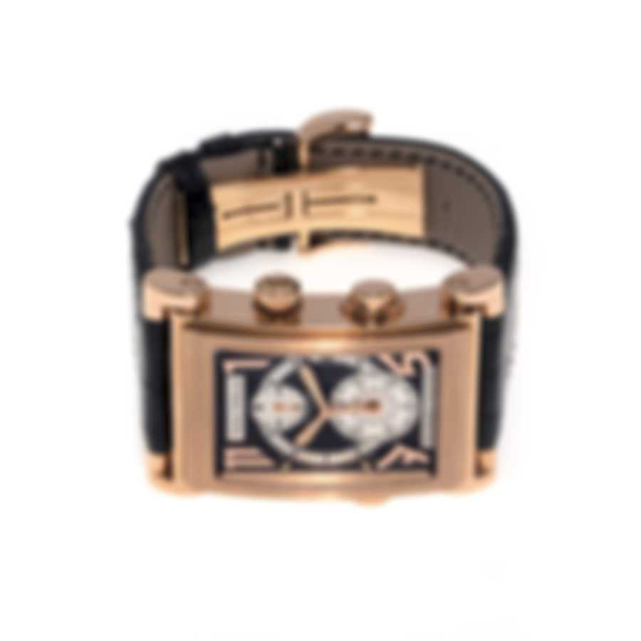 Pierre DeRoche Splitrock Big Numbers 18K Rose Gold Chronograph Automatic Men's Watch SPR30001ORO0-004CRO