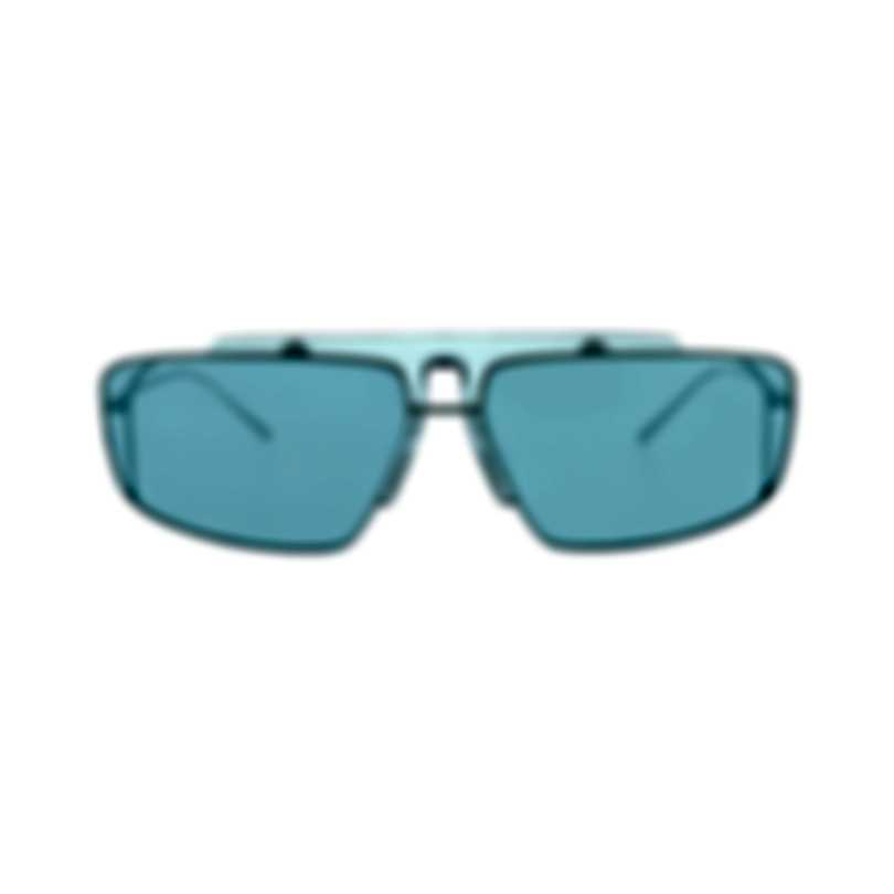 Prada Silver And Blue Men's Metal Sunglasses PR50VS-3014Q2