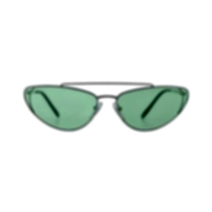 Prada Silver And Green Women's Metal Sunglasses PR62VS-1BC348