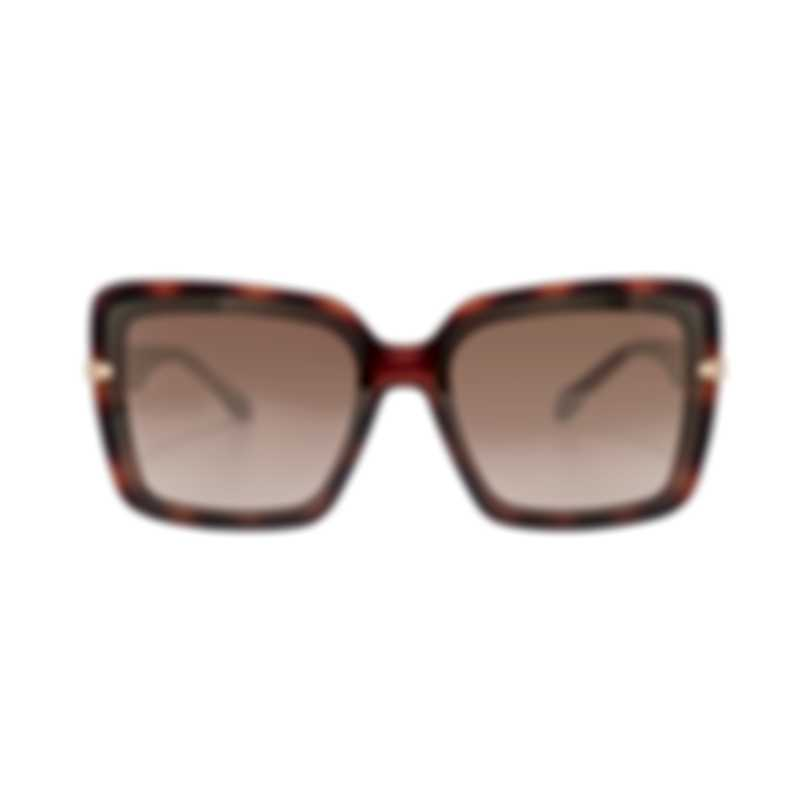Roberto Cavalli Women's Injected Dark Havana Sunglasses RC109452G
