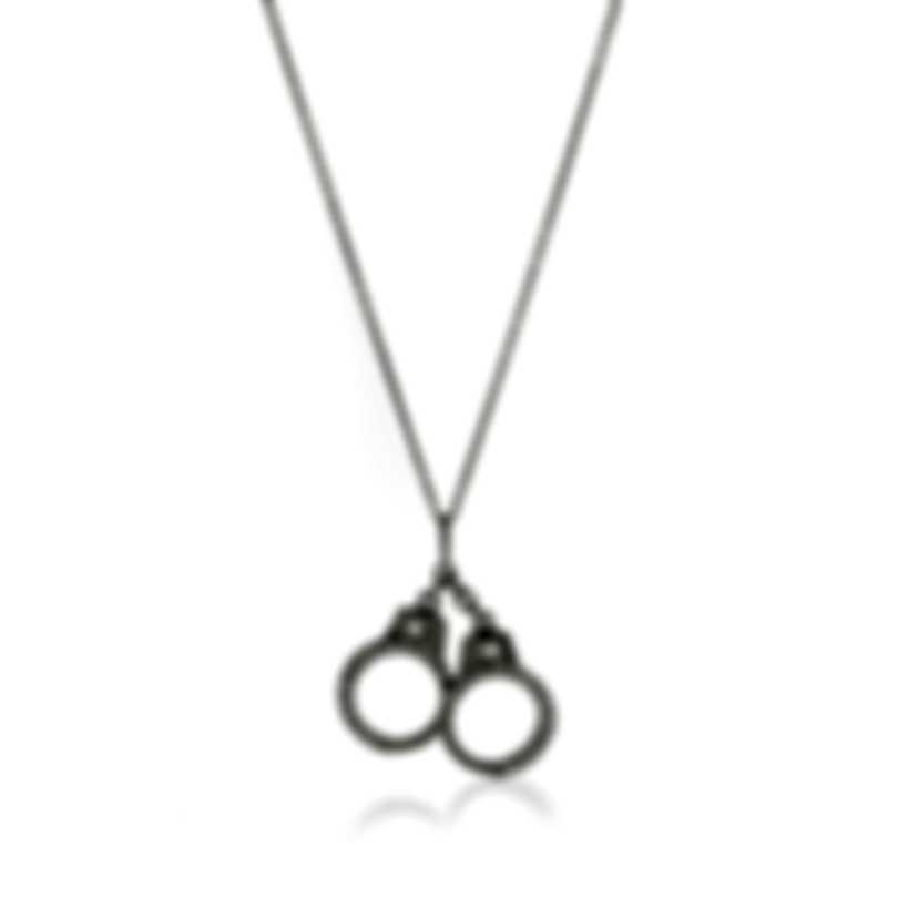 Roberto Coin Handcuff 18k White Gold Diamond 0.25ct Necklace 000383AWCHX0
