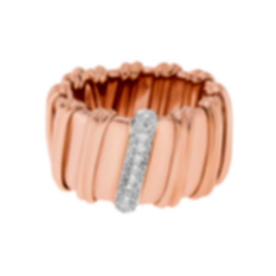Roberto Coin Nabucco 18k Rose Gold Diamond 0.3ct Ring Sz 7 206180AH65X0