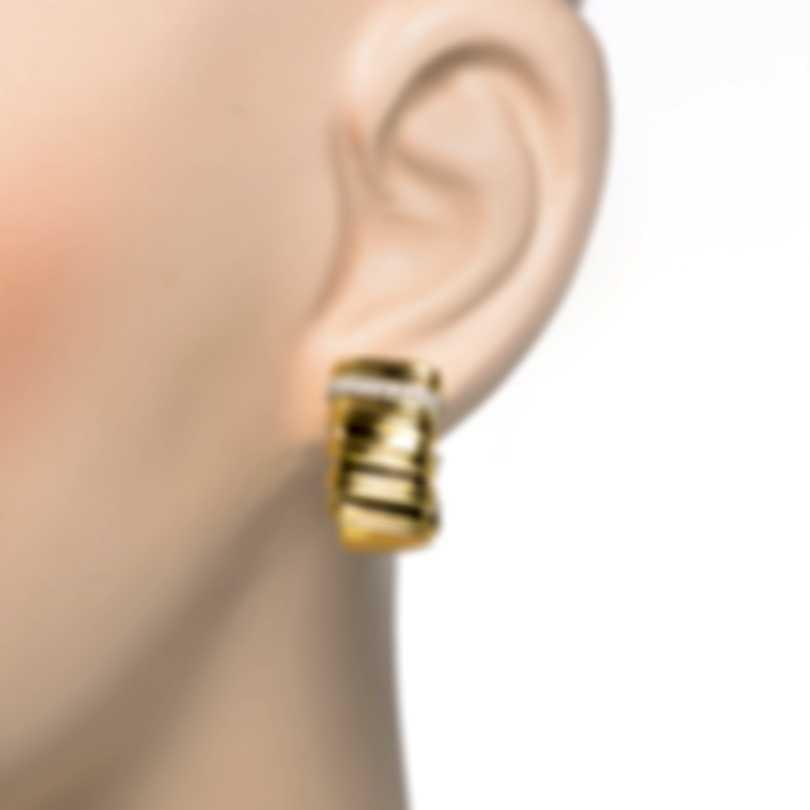 Roberto Coin Dia 18k Yellow & White Gold Diamond 0.40ct Earrings 206180AJERD0