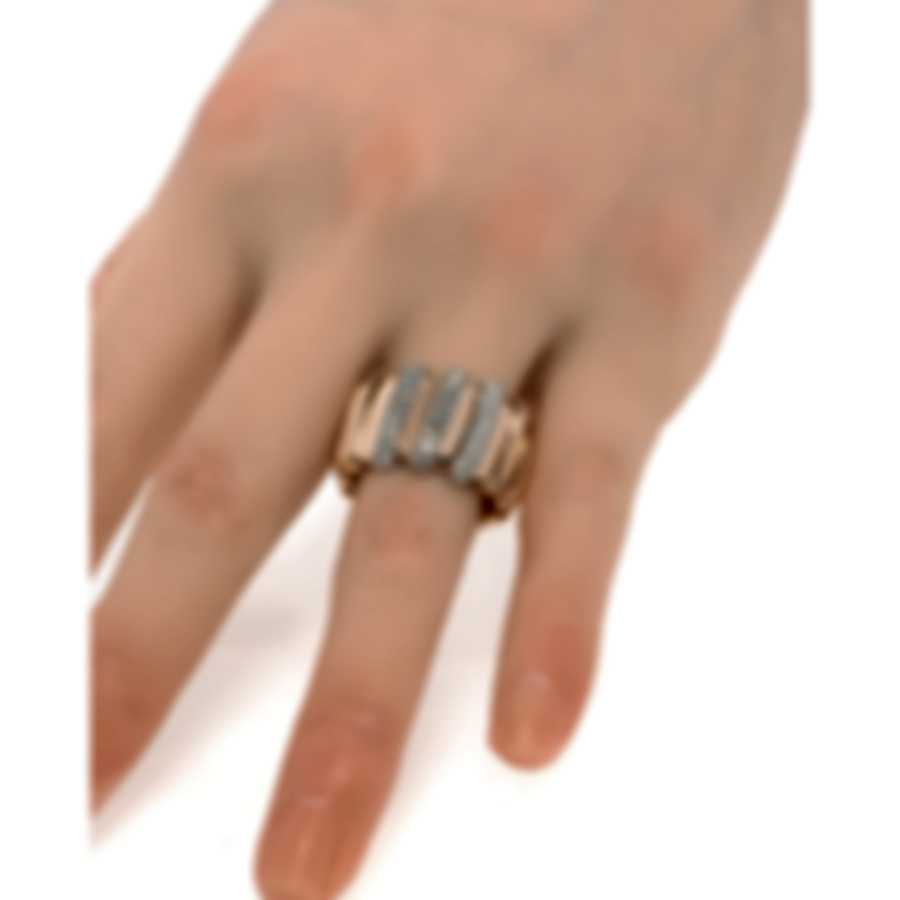 Roberto Coin Nabucco 18k Rose Gold Diamond 0.85ct Ring Sz 5.75 2062223AH65X