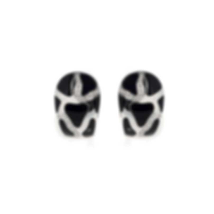 Roberto Coin Panda 18k White Gold Diamond 0.32ct And Onyx Earrings 211124AWEROD