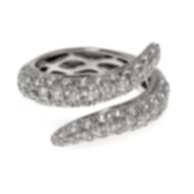 Roberto Coin Cobra 18k White Gold Diamond 2.40ct Ring Sz 7 211592AW65DD