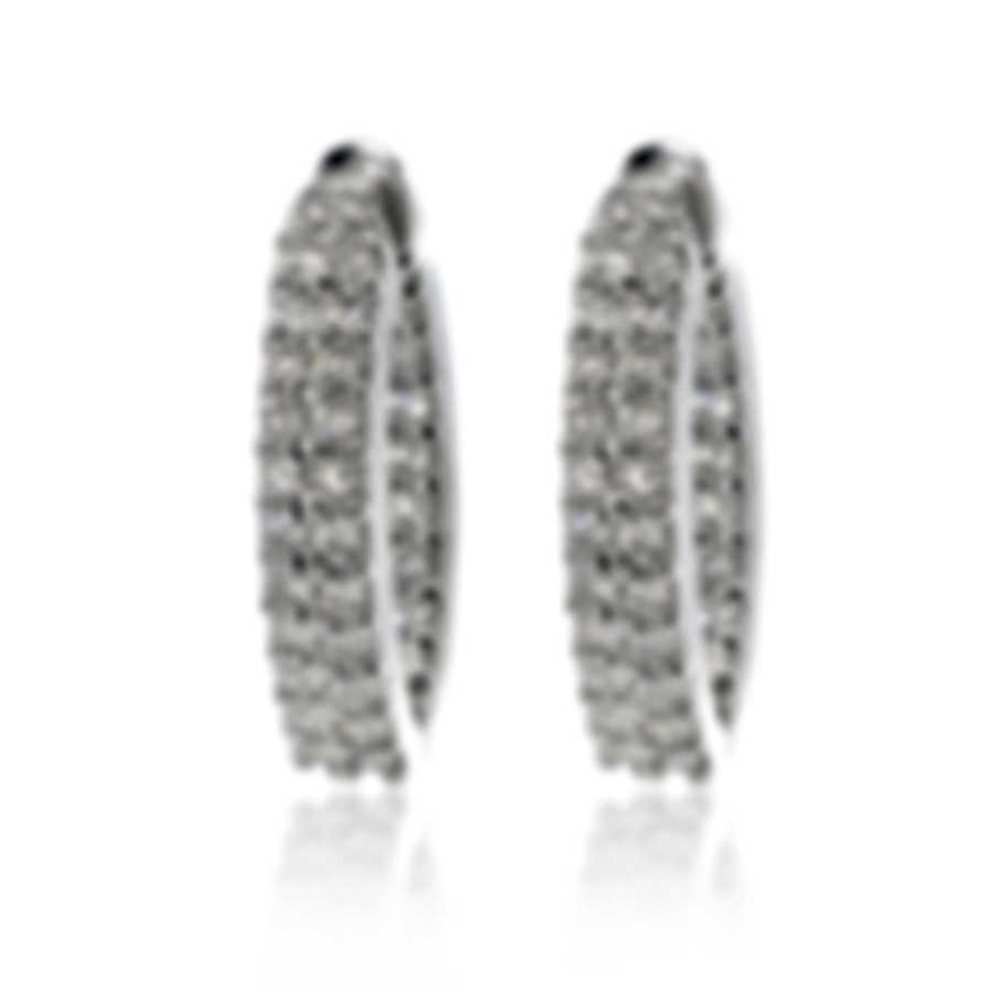 Roberto Coin 18k White Gold Diamond 2.99ct Earrings 356057AWERD0