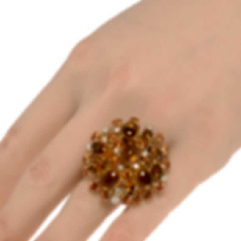 Roberto Coin Fantasia 18k Gold Diamond 0.55ct And Citrine Ring Sz 7 364112AY65JX