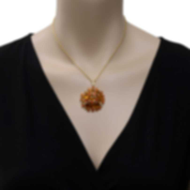 Roberto Coin Fantasia 18k Gold Diamond 0.77ct And Citrine Necklace 364112AYCHJX