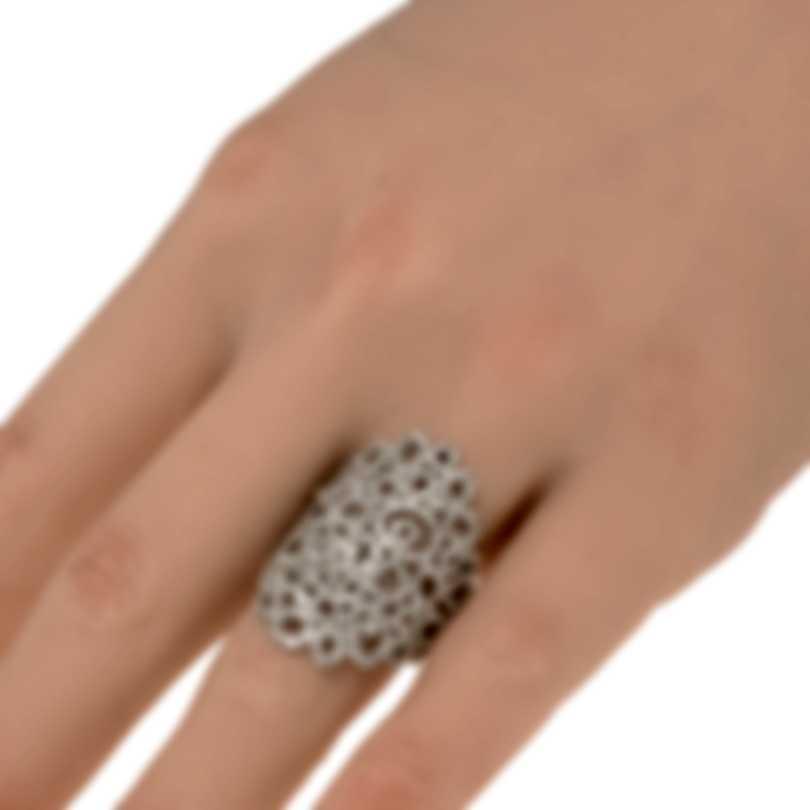 Roberto Coin Mauresque 18k White Gold Diamond 1.80ct Ring Sz 7 3304460AW60X
