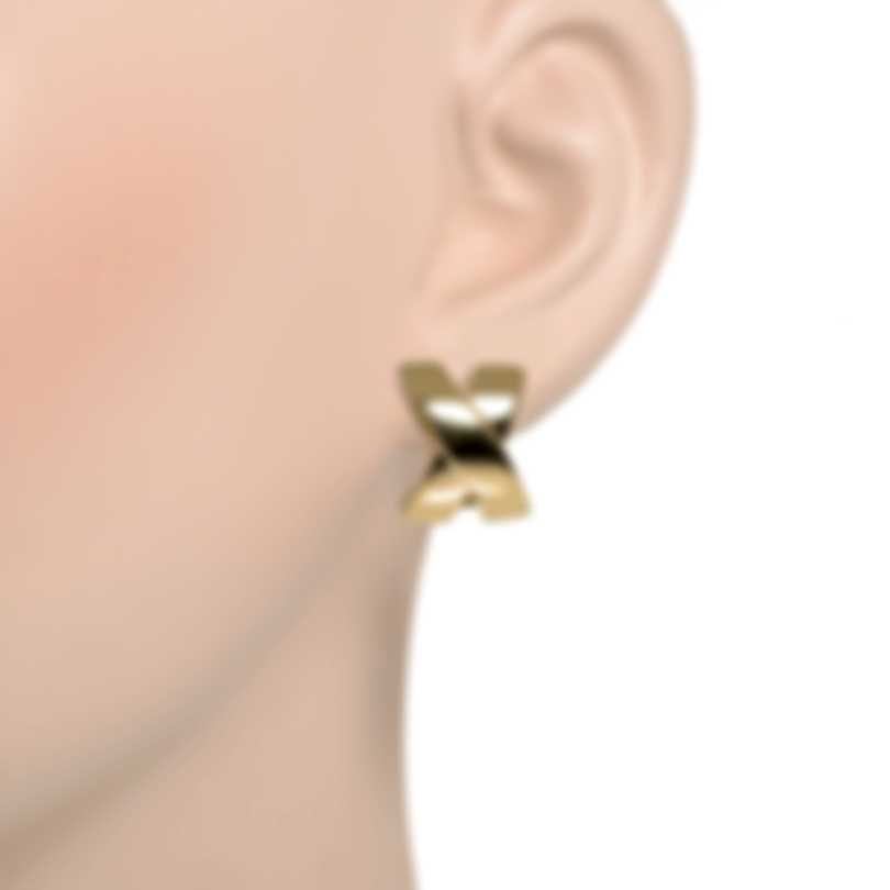Roberto Coin Crossover X 18k Yellow Gold Earrings 330616AYER00