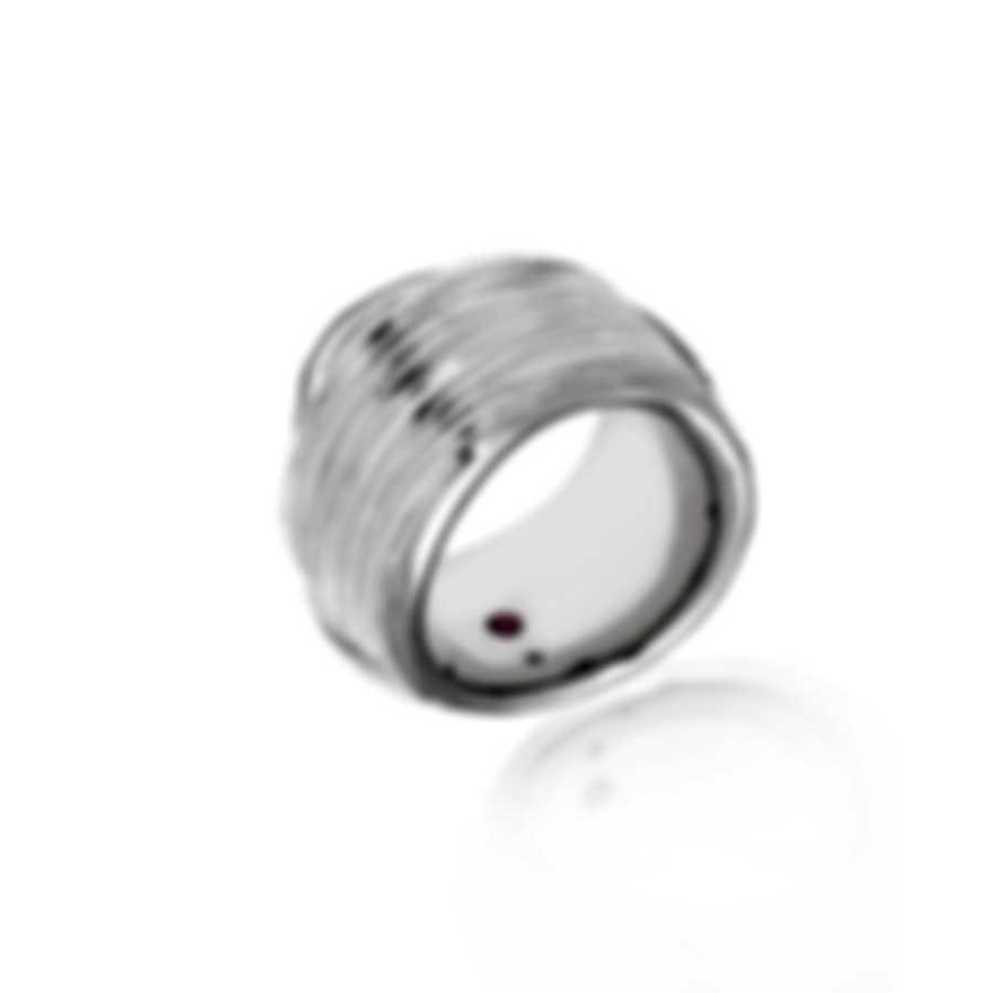 Roberto Coin Wave Elephant 18k White Gold Diamond Ct Ring Sz 6.25 330836AWLRX0