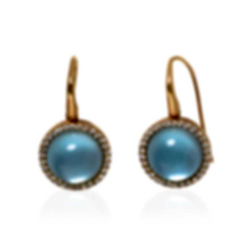 Roberto Coin 18k Rose Gold Diamond 0.53ct And Topaz Earrings 473555AXERJX