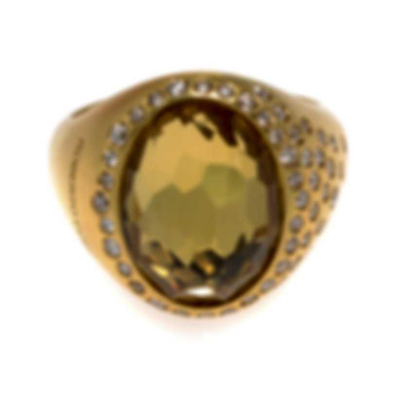 Roberto Coin 18k Yellow Gold Diamond 0.35ct Ring Sz 6.25 473562AY65SB
