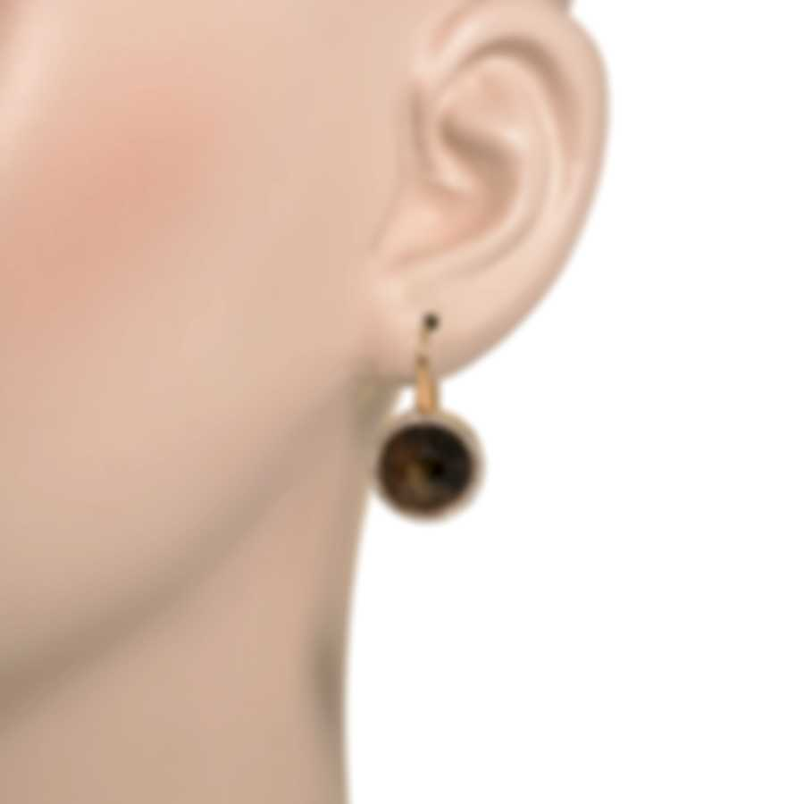 Roberto Coin Fantasia 18k Rose Gold Diamond 0.55ct Onyx Earrings 473596AXERJX