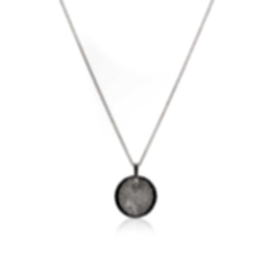Roberto Coin Fantasia 18k White Gold Diamond 0.62ct & Black Sapphire Necklace