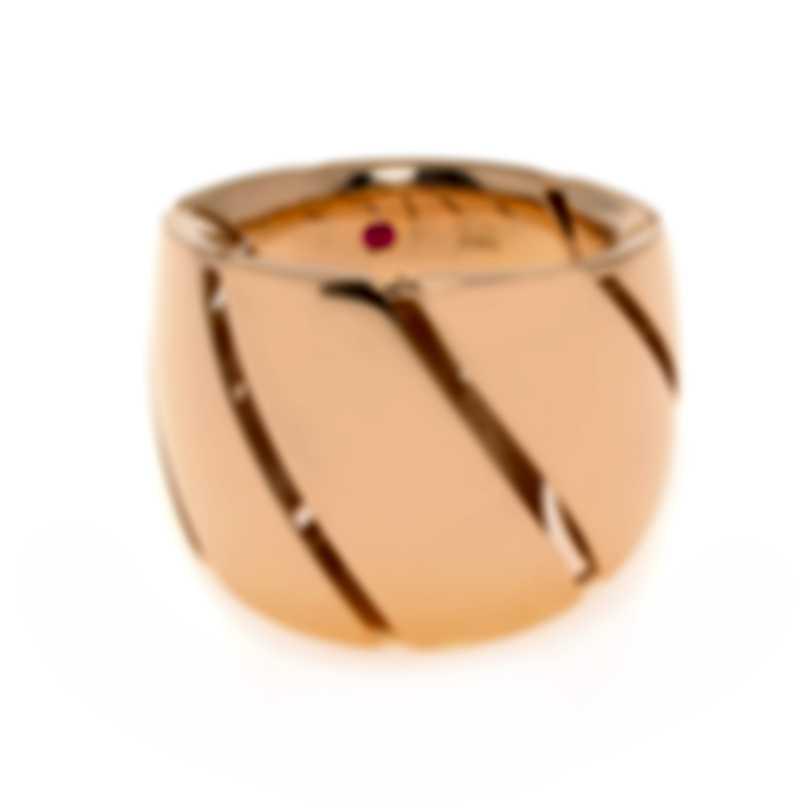 Roberto Coin Torchon 18k Rose Gold Ring Sz 7 7771400AX700