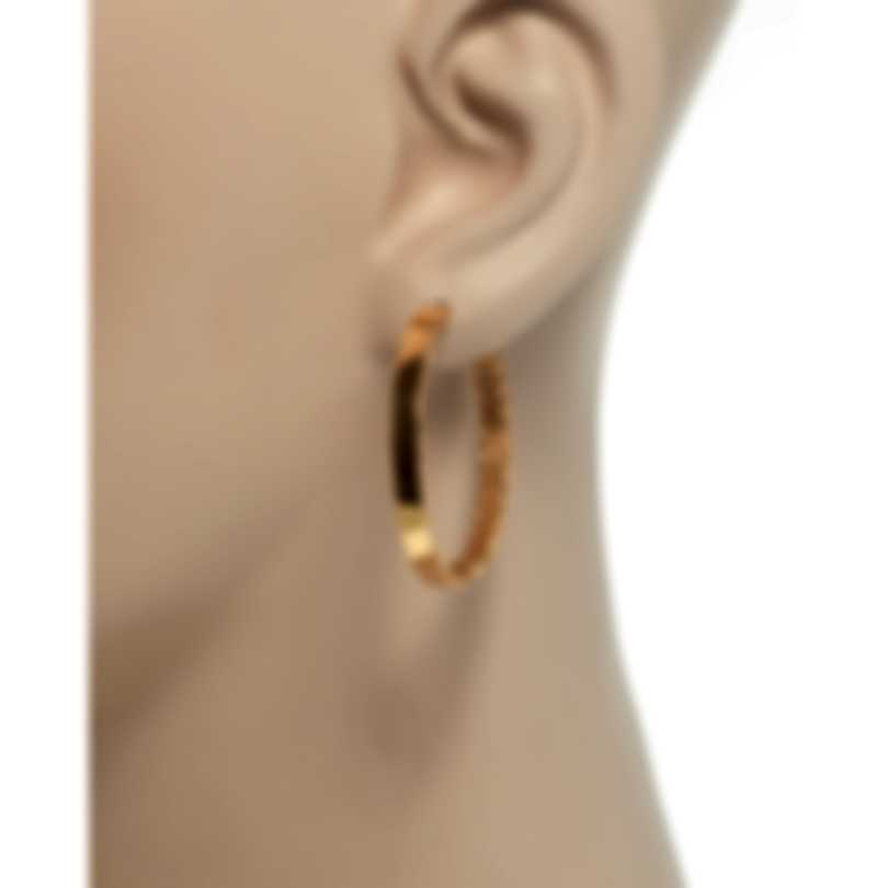 Roberto Coin Womens Symphony 18k Rose Gold Hoop Earrings 7771598AXER0