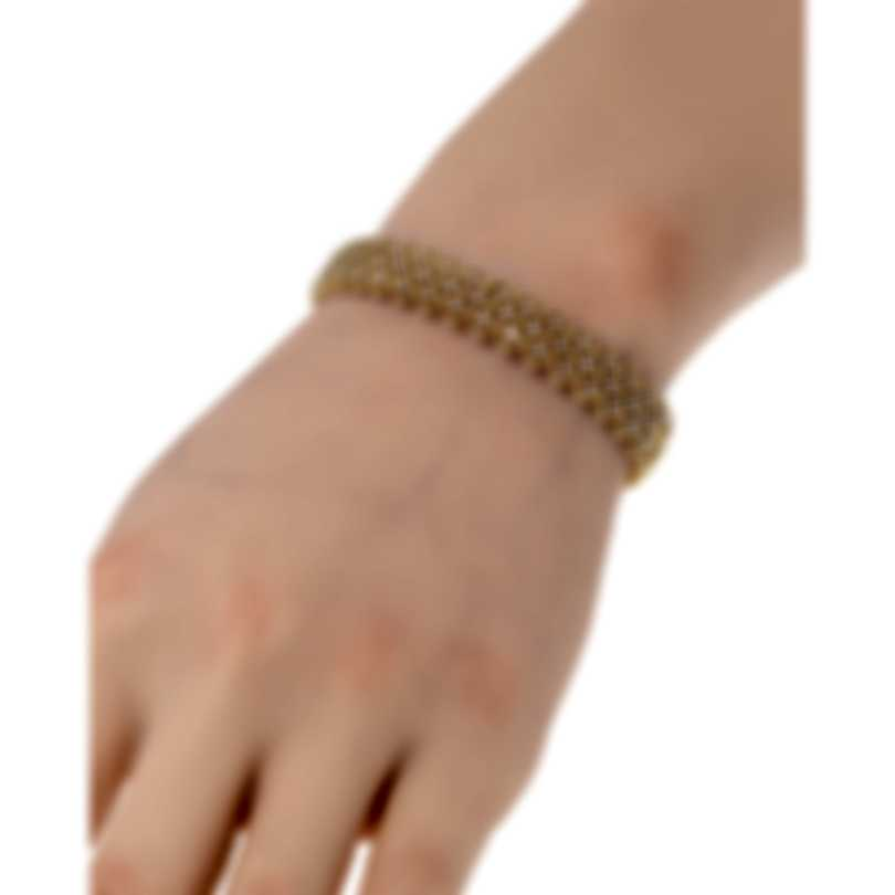 Roberto Coin Roman Barocco 18k Yellow Gold Diamond 1.10ct Bracelet 7771650AYBAX