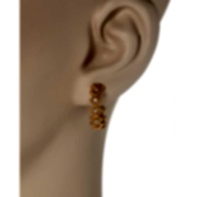 Roberto Coin Roman Barocco 18k Rose Gold Diamond 0.15ct Earrings 7771652AXERX