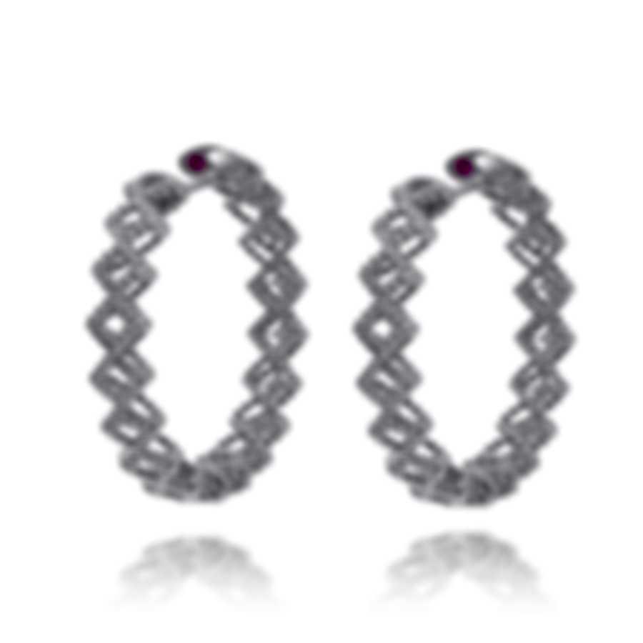 Roberto Coin Roman Barocco 18k White Gold Diamond 0.25ct Earrings 7771653AWERX