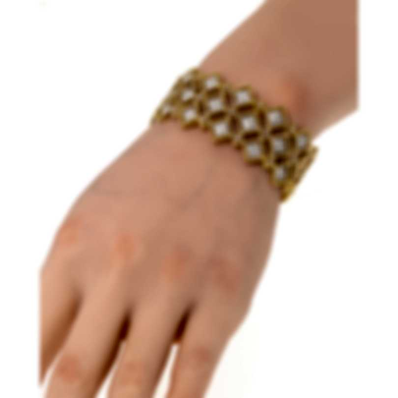 Roberto Coin Roman Barocco 18k Yellow Gold Diamond 2.75ct Bracelet 7771656AJBAX