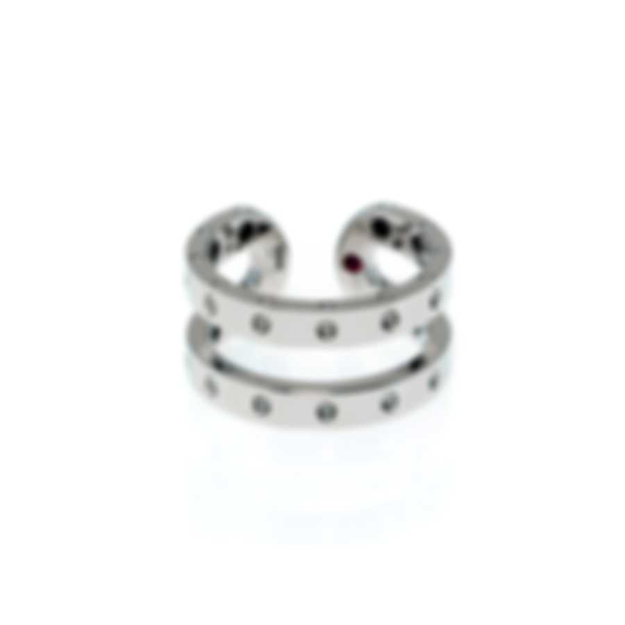 Roberto Coin Womens Symphony 18k White Gold Statement Ring Sz 6.5 7771657AW650