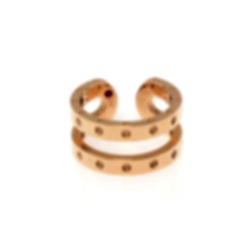 Roberto Coin Symphony 18k Rose Gold Ring Sz 6.5 7771657AX650