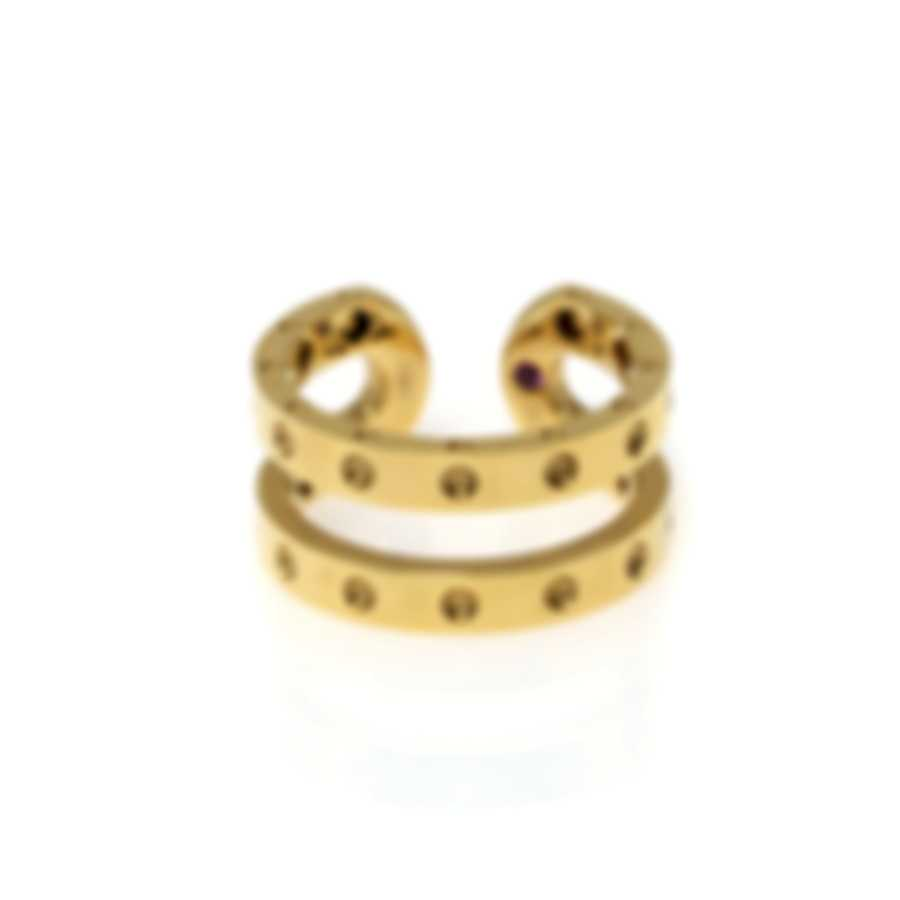 Roberto Coin Womens Symphony 18k Yellow Gold Ring Sz 6.5 7771657AY650