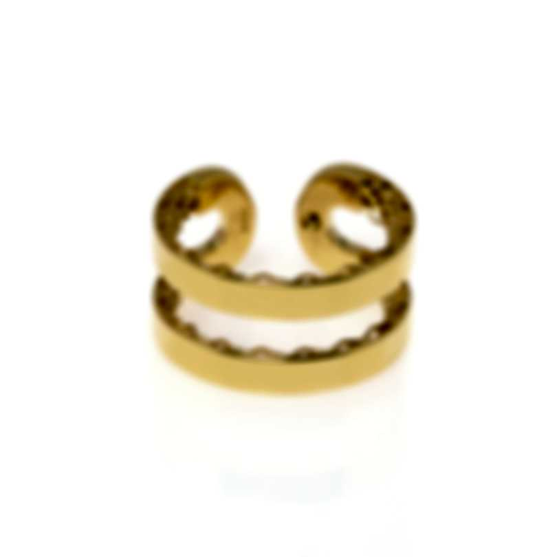 Roberto Coin Womens Symphony 18k Yellow Gold Statement Ring Sz 6 7771658AY650