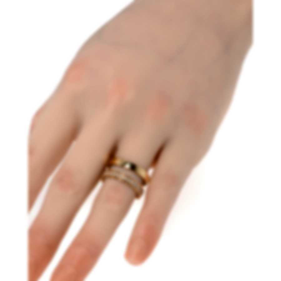 Roberto Coin Symphony 18k Rose Gold Diamond 0.30ct Ring Sz 6.5 7771659AH65X