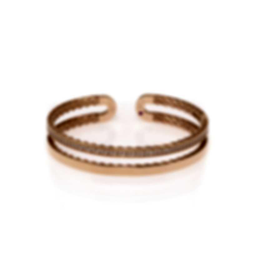 Roberto Coin Symphony 18k Rose Gold Diamond 0.64ct Bracelet 7771659AXBAX
