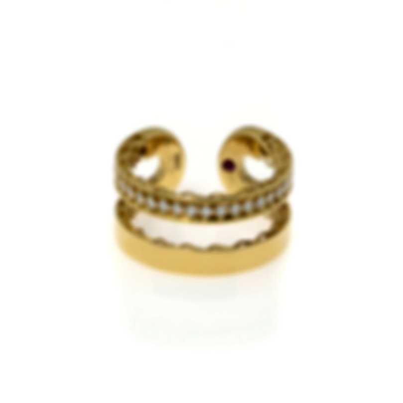 Roberto Coin Symphony 18k Yellow Gold Diamond 0.30ct Ring Sz 6.5 7771659AY65X