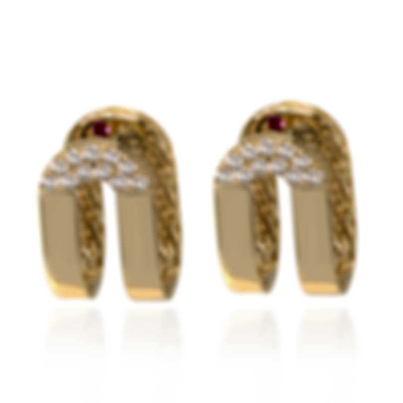 Roberto Coin Symphony 18k Yellow Gold Diamond 0.28ct Earrings 7771659AYERX