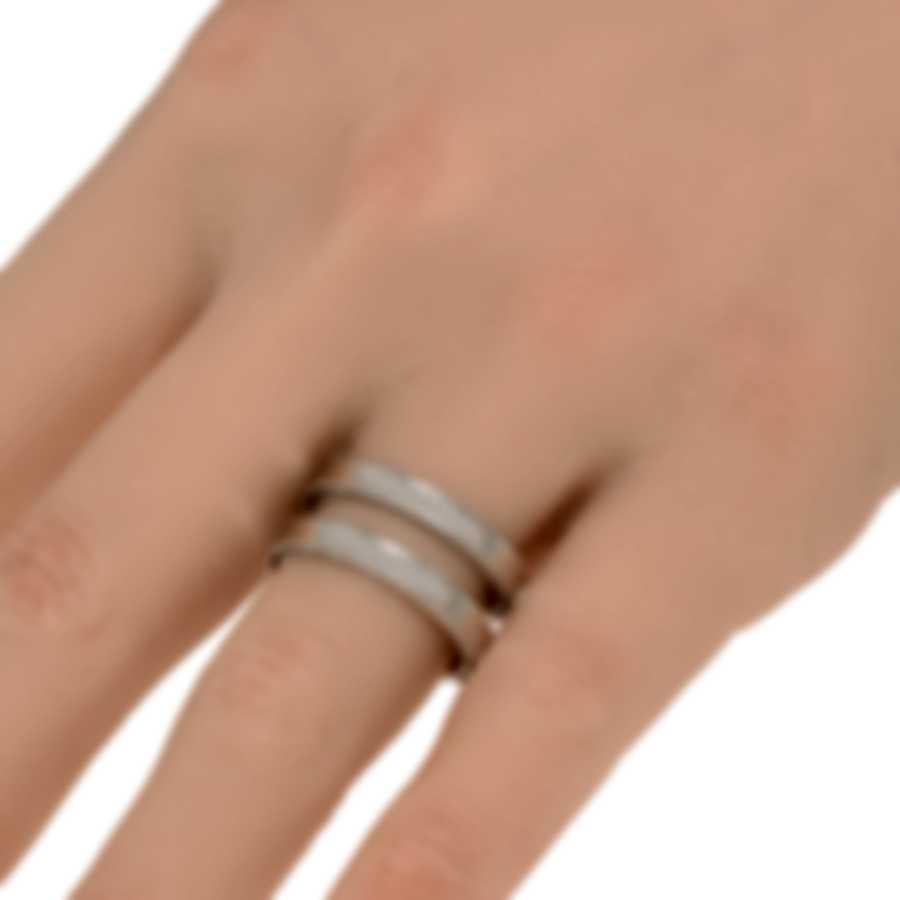 Roberto Coin Symphony 18k White Gold Ring Sz 7.5 7771669AW750
