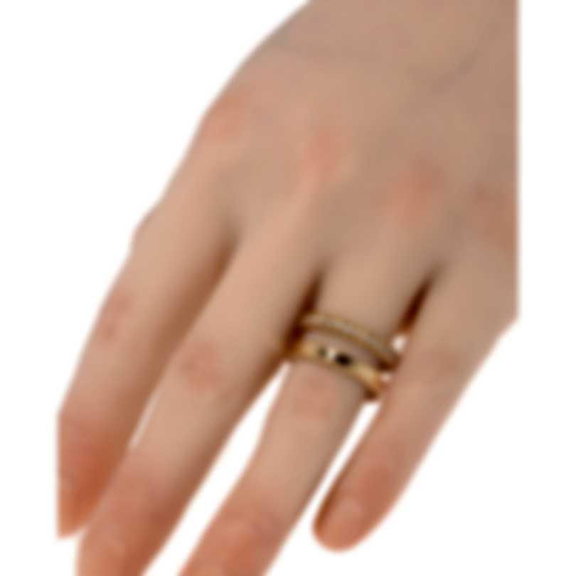 Roberto Coin Symphony Princess 18k Rose Gold Diamond Ring Sz 6.5 7771682AX65X