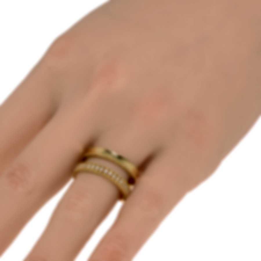 Roberto Coin Symphony Princess 18k Gold Diamond 0.30ct Ring Sz 7.5 7771682AY75X